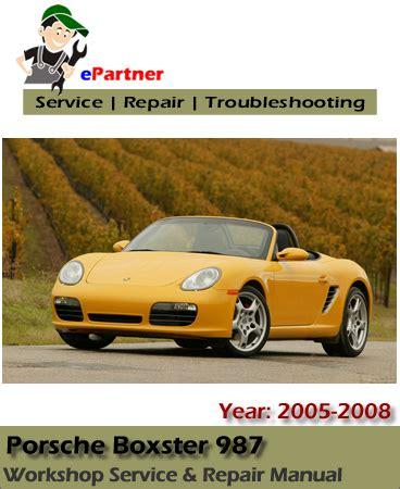 car repair manuals download 2005 porsche boxster navigation system porsche boxster 987 service repair manual 2005 2008 automotive service repair manual
