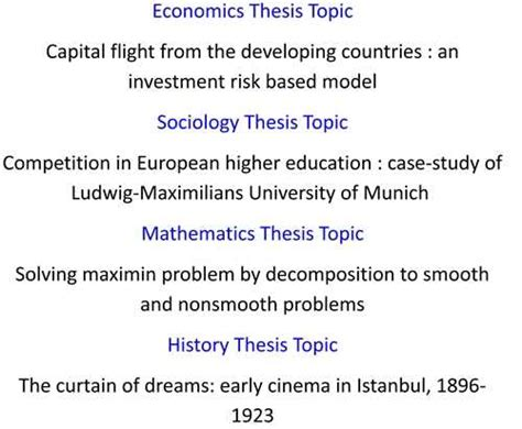 thesis topics about special education looking for mba thesis topics exles