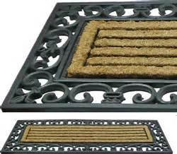 Patio Door Doormat Large Patio Coir Rubber Doormat 163 19 99 Garden4less Uk