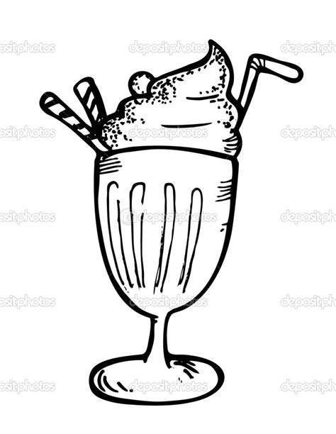 ice cream soda coloring page ice cream float with straw clipart ice cream soda