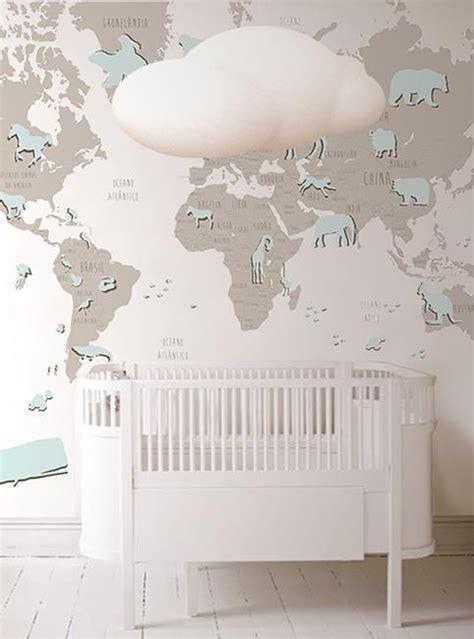 papel pintado para habitacion de bebe papel pintado mapamundi para el cuarto beb 233