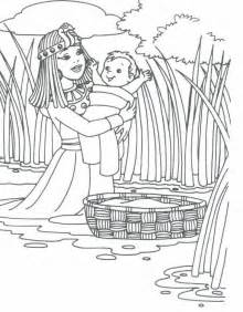 baby moses coloring page 1 baby moses moses baby