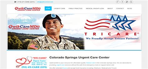 comfort care family practice qwikcare md website developement colorado springs