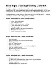 simple wedding planning simple wedding checklist 20 free word pdf documents free premium templates