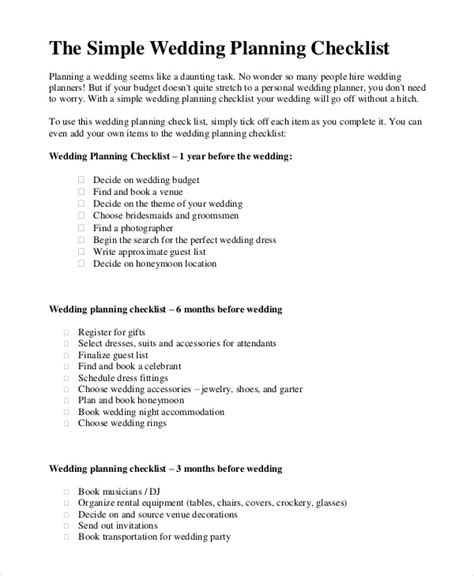 Wedding Checklist Uk Simple by Simple Wedding Planning Checklist Kays Makehauk Co