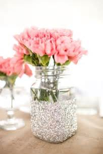wedding theme glitter vase jars for table decorations