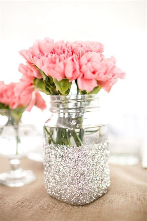 Decorating Vases With Glitter by Wedding Theme Glitter Vase Jars For Table Decorations 2064454 Weddbook