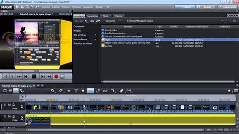 tutorial video deluxe magix tutorial marca de agua y logo en videos magix video deluxe