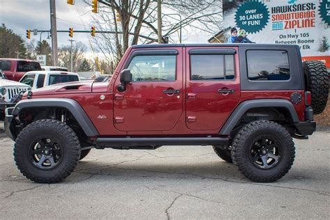 burgundy jeep pre owned 2008 jeep wrangler rubicon unlimited hemi burgundy