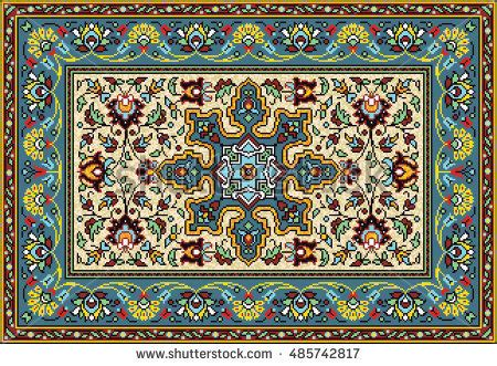 mosaic pattern carpet colorful mosaic rug classical traditional floral stock