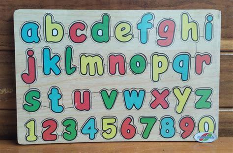 Puzzle Stiker Kecil Paket Mainan Kayu Edukatif Anak Sni Paud alat peraga edukasi puzzle abjad kecil