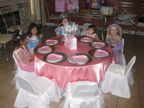 themed party equipment hire princess theme birthday party table set up decoration