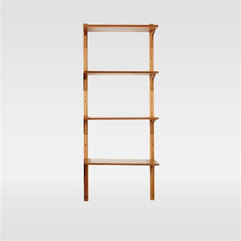 mid century wall shelving set west elm