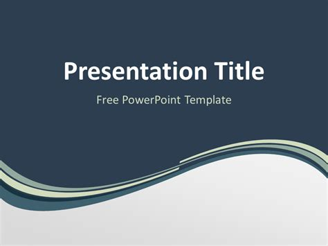abstract free grayish wave powerpoint template dark blue