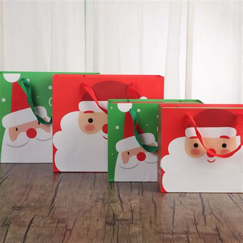 merry christmas present box santa claus paper hanging candy box diy colorful birthday party