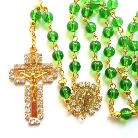 rosary where to buy rosary green glass prayer rosary catholic rosary