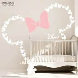 Mickey Mouse Stickers For Walls mickey mouse inspired ears with bow amp personalized baby