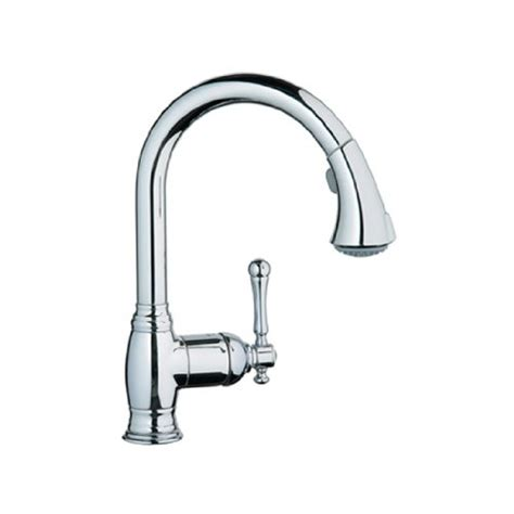 grohe nickel pull down faucet nickel grohe pull down faucet grohe 33870en0 bridgeford pull down spray kitchen faucet