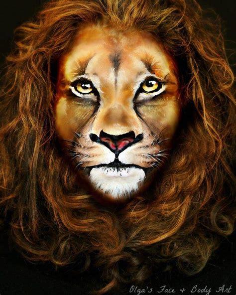 Realistic Lion Face Paint Realistic Tiger Makeup