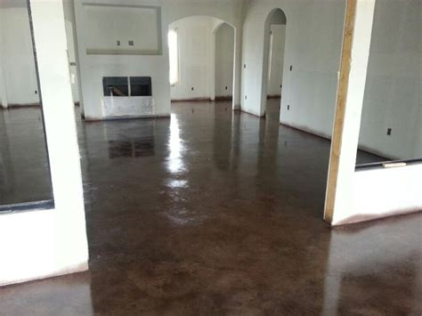 Walnut Stained Concrete floor! Premier Concrete Designs
