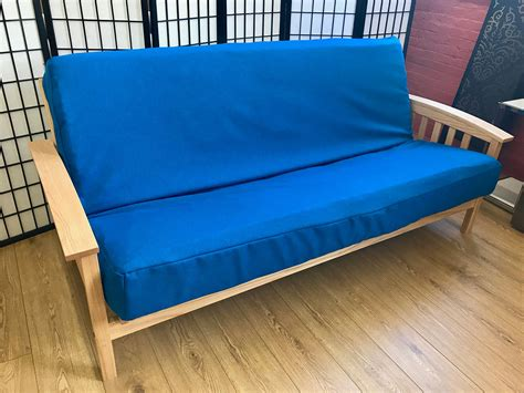 blue futon covers synthetic royal blue futon cover queen