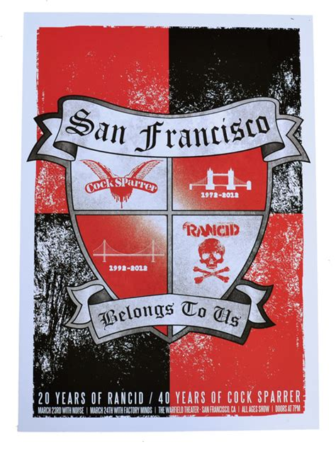 Sparrer Cs 12 rancid cocksparrer sf belongs to us poster ran cs sf