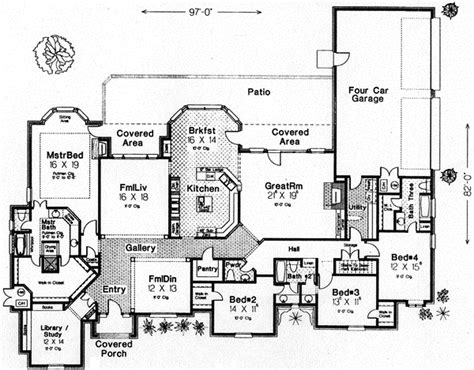 english house floor plans english country style house plans 3942 square foot home