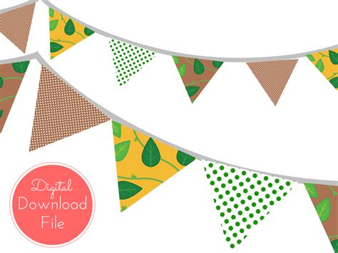 Bunting Flag Bridal Shower 11 000 jungle baby shower banner magical printable