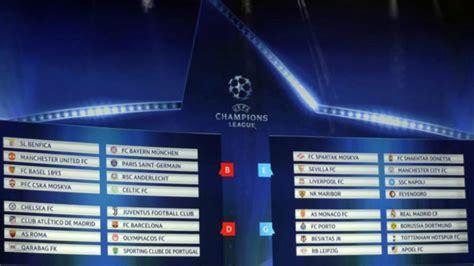 calendario de la fase de grupos de la uefa chions league 2014 15 chions league 2017 18 calendario de la fase de grupos