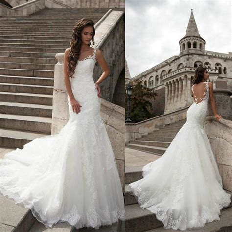 Wedding Dresses 2016 Cheap by New Arrival Lace Wedding Dresses Backless 2016 Cheap Sheer