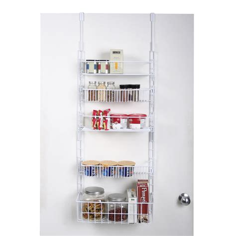 The Door Pantry Rack Home Depot by Essential Home The Door Pantry Organizer White