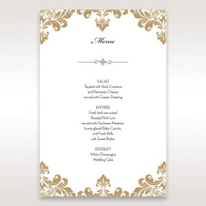 wedding menu card template uk wedding reception menu cards by b wedding invitations