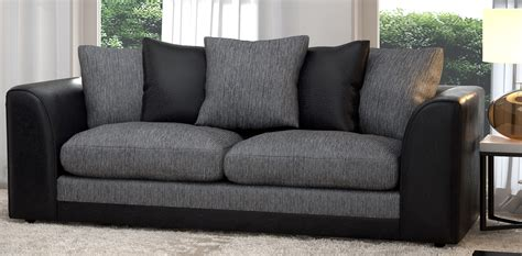 a black sofa in your living room