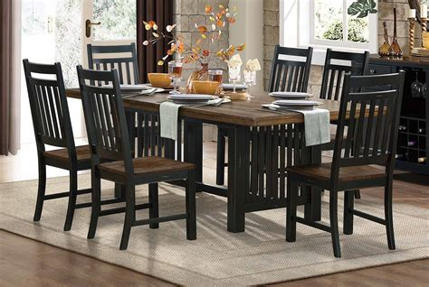 homelegance three falls dining set black 5023 dining set