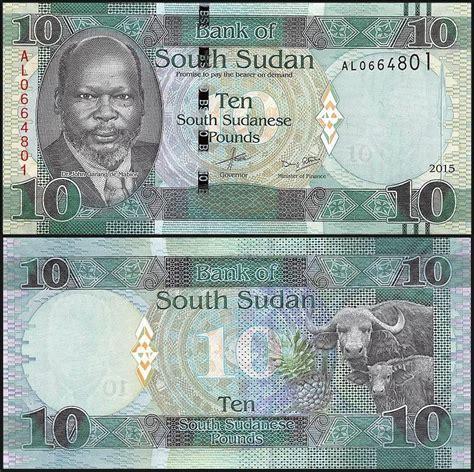 Sudan Selatan 5 Pounds 2011 Unc south sudan 10 pounds 2015 p new unc ebay