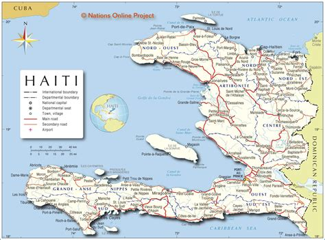 map of haiti political map of haiti nations project