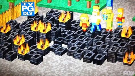 simpsons minecraft couch gag the simpsons minecraft intro couch gag youtube