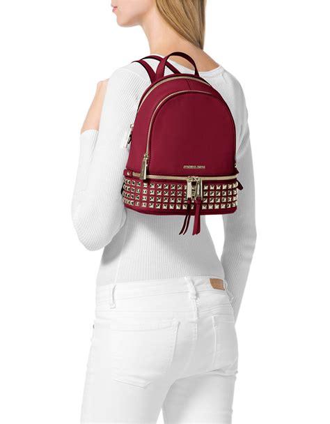 Michael Kors Rhea Backpack Mini 2 michael michael kors rhea leather mini backpack in lyst