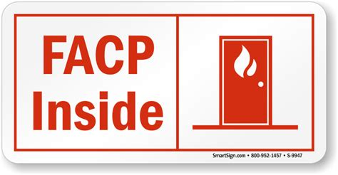 no smoking signs 7 quot x10 quot interior signs seton facp signs for fire alarm control panels