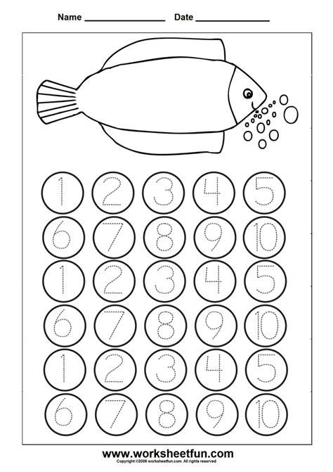 number worksheet numbers to kindergarten printable