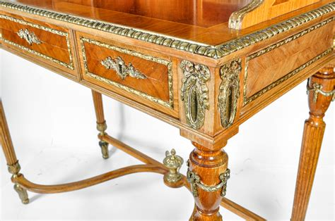 french style writing desk antique french louis style satinwood writing desk