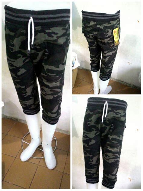 Jogger Streeth Army Pendek celana jogger pendek 3 4 army loreng joger pria welcome di toko cendol
