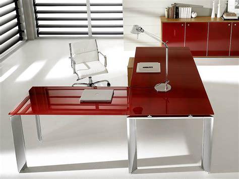 scrivania angolare vetro scrivania ad angolo direzionale in vetro laccato pratiko