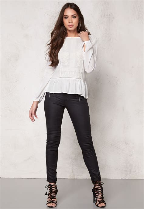 White Lili Blouse white blouse black dressy blouses