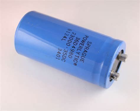 36d4980 sprague capacitor 23 000uf 35v aluminum electrolytic large can computer grade 2020002833