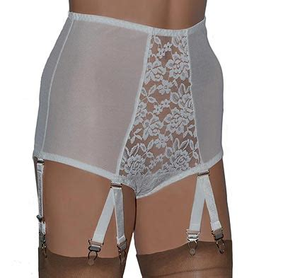 girdles with suspenders retro panty girdle with 6 suspender straps in ivory or black