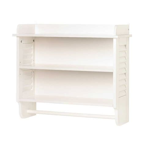 White Bathroom Shelves Towel Storage Knowledgebase