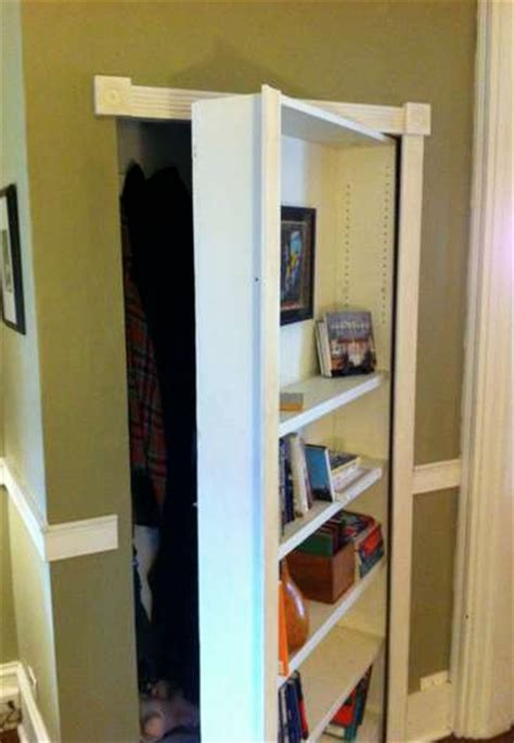 How To Build A Bookcase Closet Door Diy Building Kitchen How To Build A Closet Door