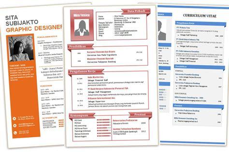 template cv menarik untuk fresh graduate contoh cv desain menarik dan kreatif format doc word part 1