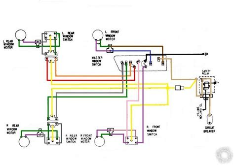 single power window switch wiring diagram 28 images